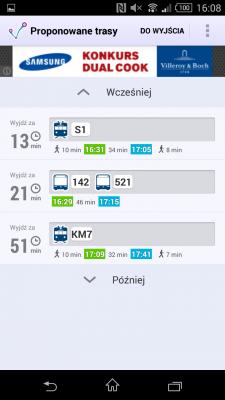 Uber, JakDojade, MyTaxi ... приложения, которые вы можете получить где угодно