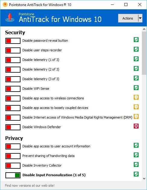 Не позволяйте шпионить за Windows 10