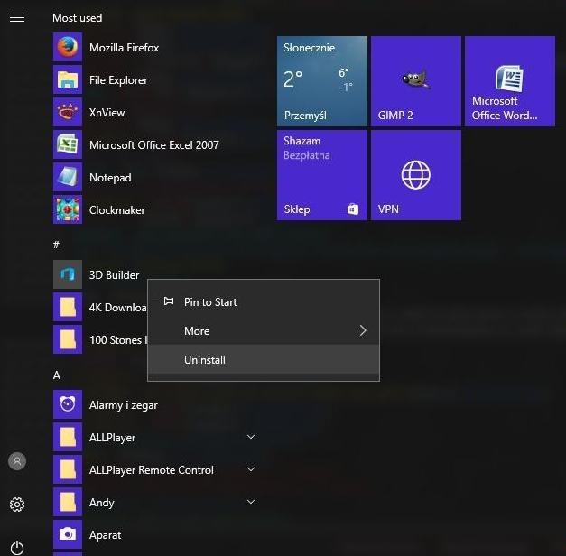 Как вы удаляете приложения, встроенные в Windows 10?
