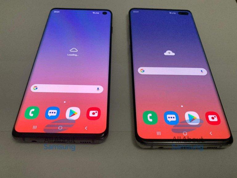 Galaxy S10 и S10 + на последующих фотографиях