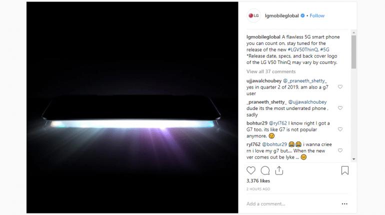 LG V50 ожидается дата выхода, цена и технические характеристики