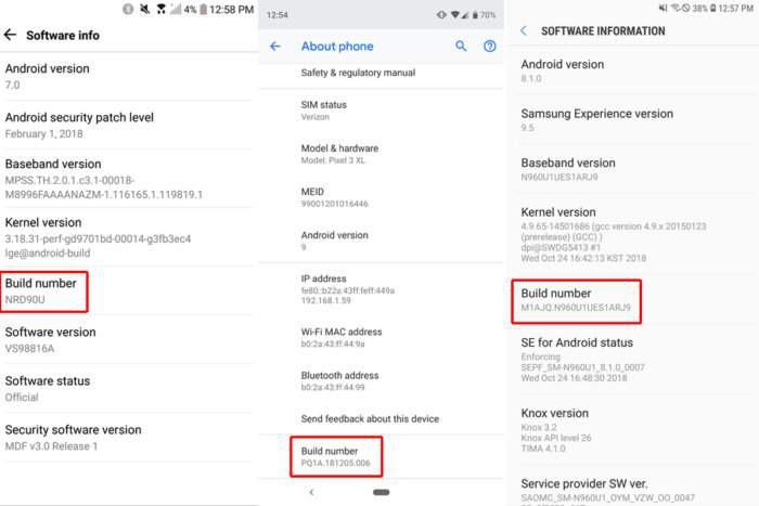 Как включить опции разработчика на Android