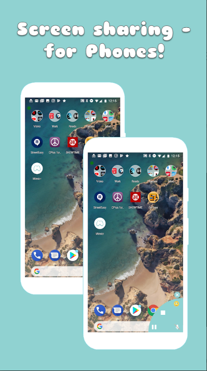 Совместное использование экрана на Android