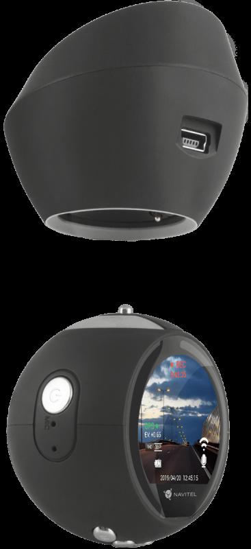 NAVITEL R1050 - автомобильная камера с основанием камеры контроля скорости и спидометром