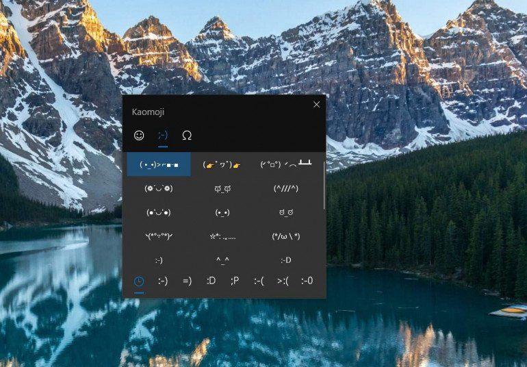 Как использовать kaomoji на ПК с Windows 10
