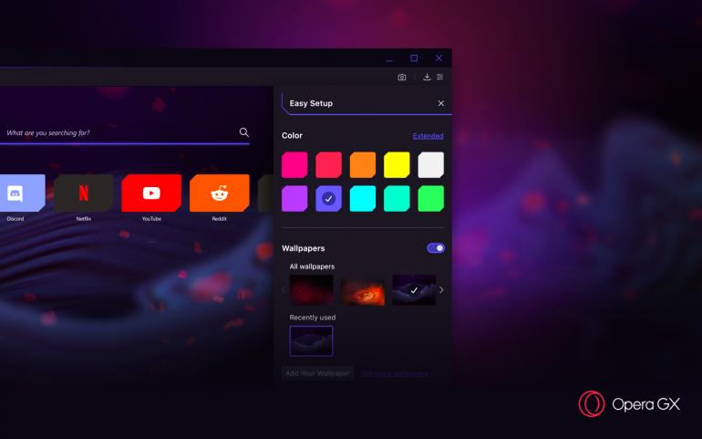 Opera представляет первый в мире игровой браузер Opera GX