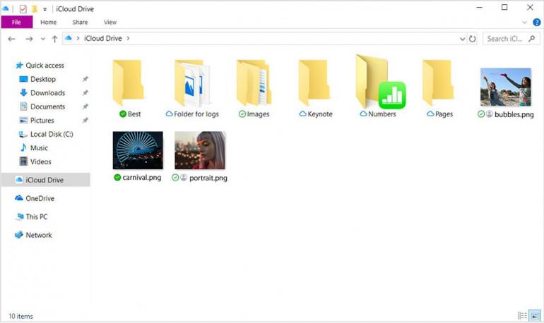 iCloud идет в Магазин Windows и использует технологию OneDrive