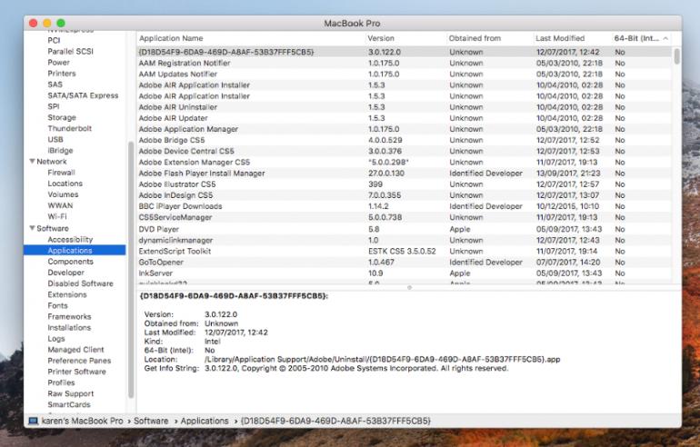 Приложения, которые не будут работать на macOS 10.15 Catalina