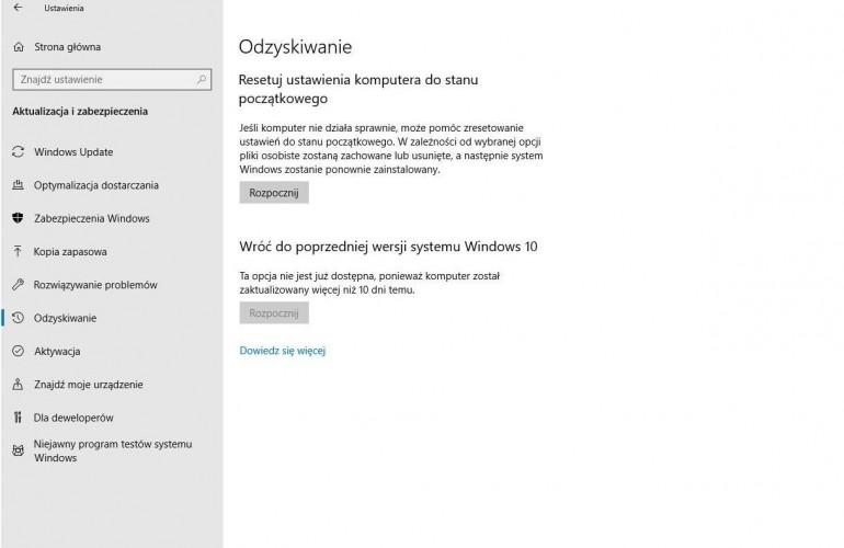 Как отменить обновление Windows 10?