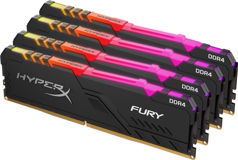HyperX - новая память FURY DDR4 RGB RAM