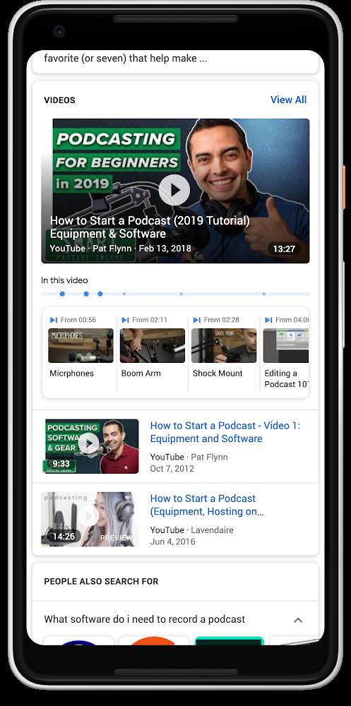 Поиск Google найдет информацию в видеоматериалах