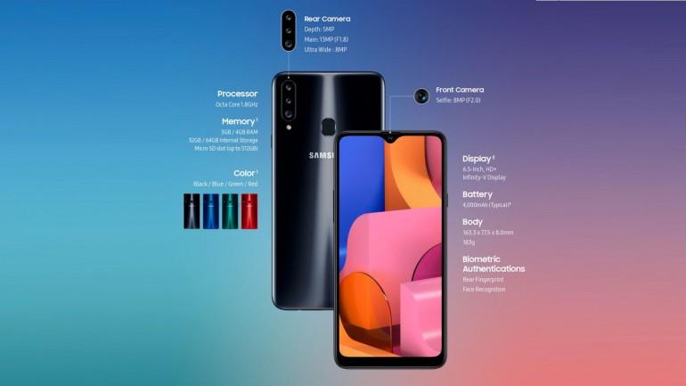 Samsung Galaxy A20s официально подтвержден