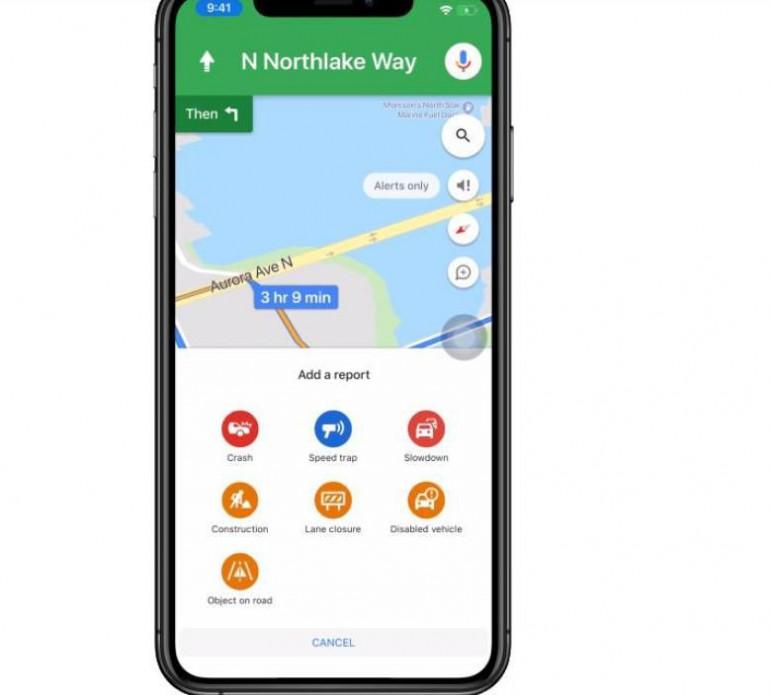 Карты Google получили новые возможности для сообщения о дорожных происшествиях