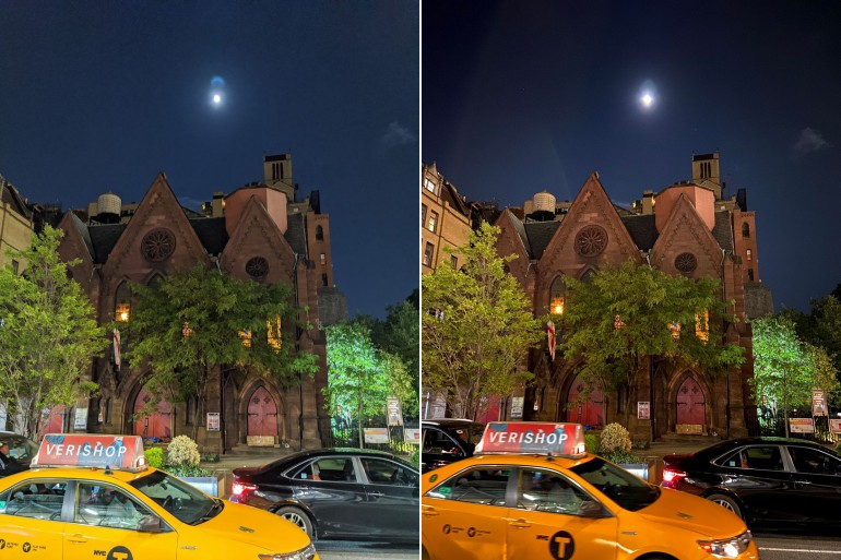 Pixel 4 проигрывает с iPhone 11 - ночные фотографии разочаровывают