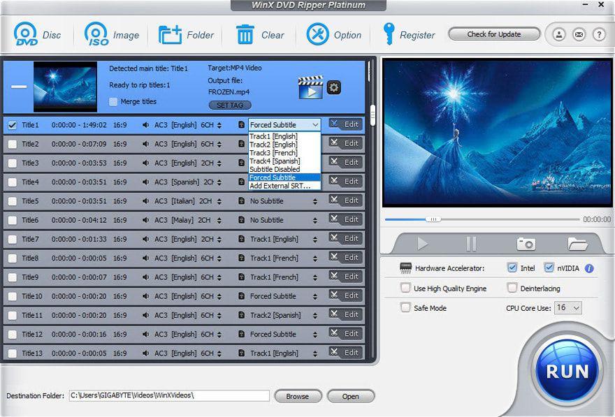 WinX DVD Ripper Platinum - быстрое преобразование DVD в видео (бесплатно в Черную пятницу)
