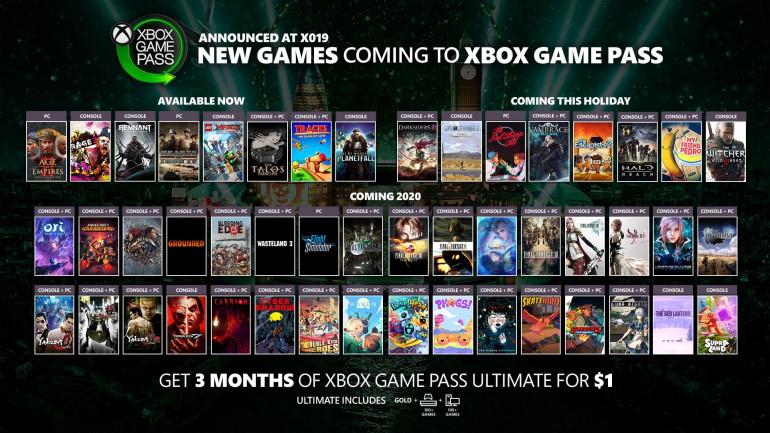 Xbox Game Pass будет обогащен множеством новых игр, Rage 2 или Age of Empires II: Definitive Edition можно скачать сейчас