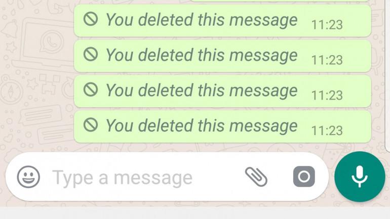 Как удалить отправленные сообщения в WhatsApp до того, как они будут прочитаны?