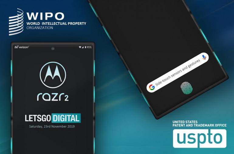 Motorola RAZR 2 - складной смартфон с сенсорной поверхностью вокруг экрана
