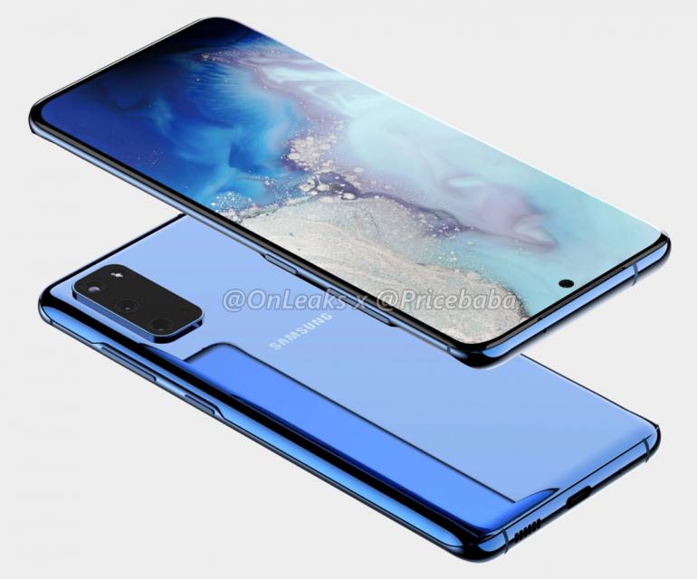 Samsung Galaxy S11 - первый S11e рендеринг с изогнутым экраном