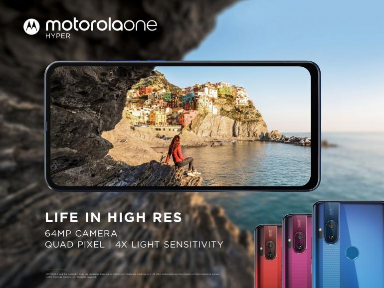 Motorola One Hyper с 64-мегапиксельной задней камерой и передним выдвижным