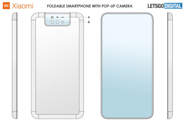 Xiaomi - складной смартфон с выдвижной камерой
