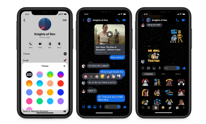 Facebook Messenger с темой звездных войн