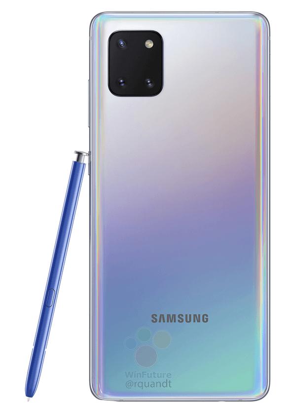 Еще один рендер и цена на Samsung Galaxy Note 10 Lite подтекают