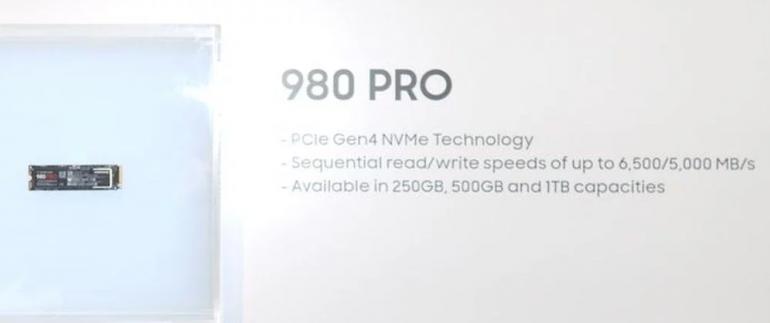 CES 2020 - Samsung представляет накопители 980 Pro с интерфейсом PCIe 4.0