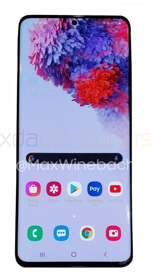 Samsung Galaxy S20 - фото работающей Galaxy S20 + 5G подтекают