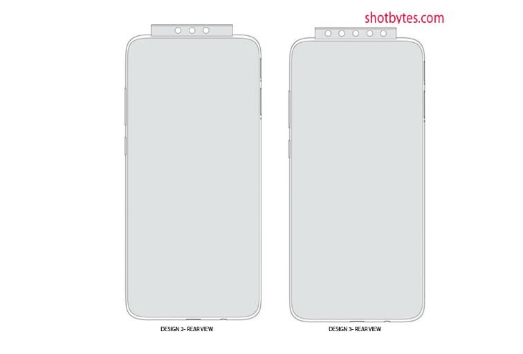 Xiaomi запатентовал дизайн с помощью всплывающей камеры и пяти датчиков