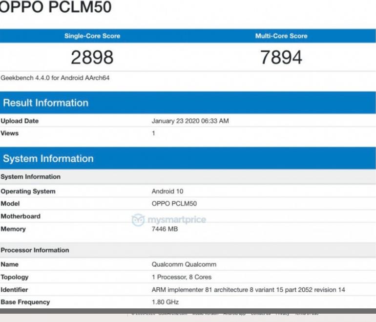 Два новых смартфона Oppo замечены в Geekbench