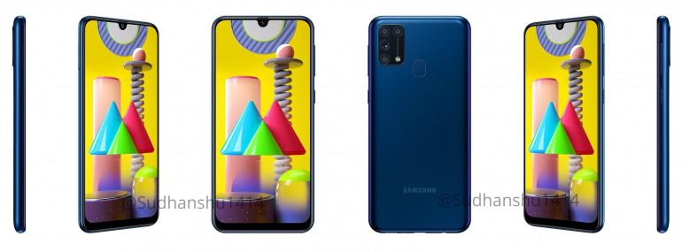 Samsung Galaxy M31 - официальные рендеры и спецификации попали в сеть