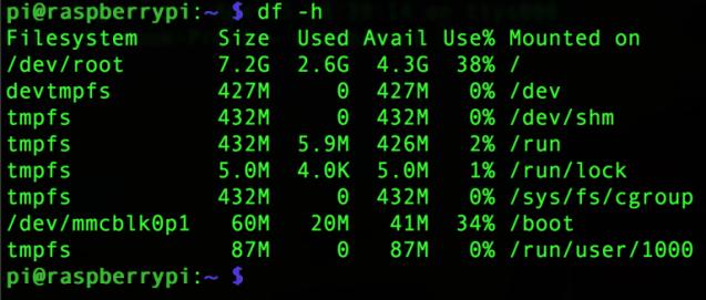 Использование диска после удаления обоих пакетов